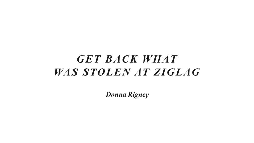 Get Back What Was Stolen At Ziglag